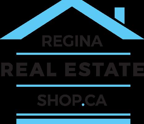 Regina Real Estate Shop - white Logo